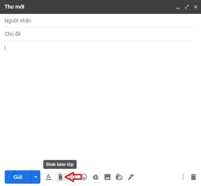 Đính kèm tệp trong Gmail